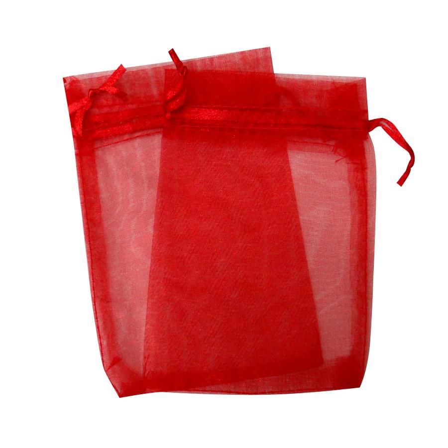 Sacos de Organza Vermelho-SOVermelho