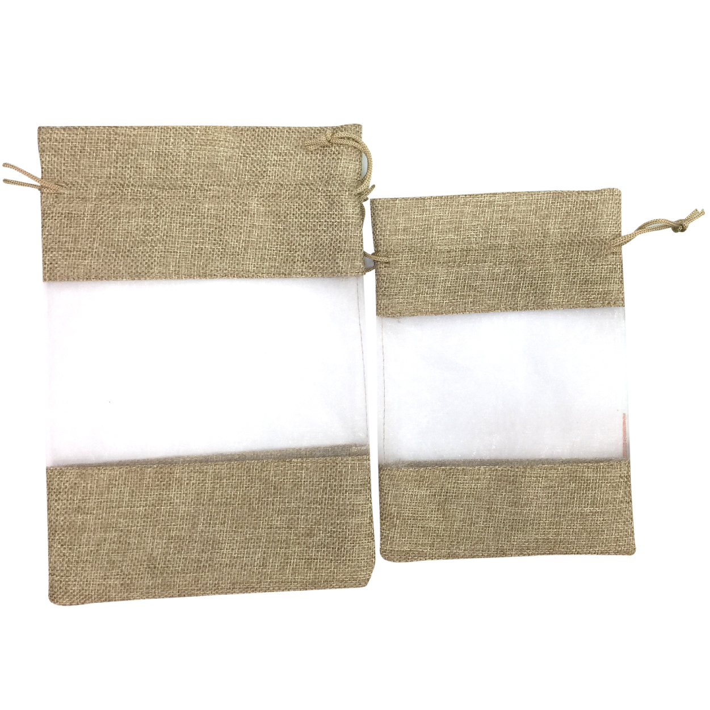 Saco de tecido com organza-STO