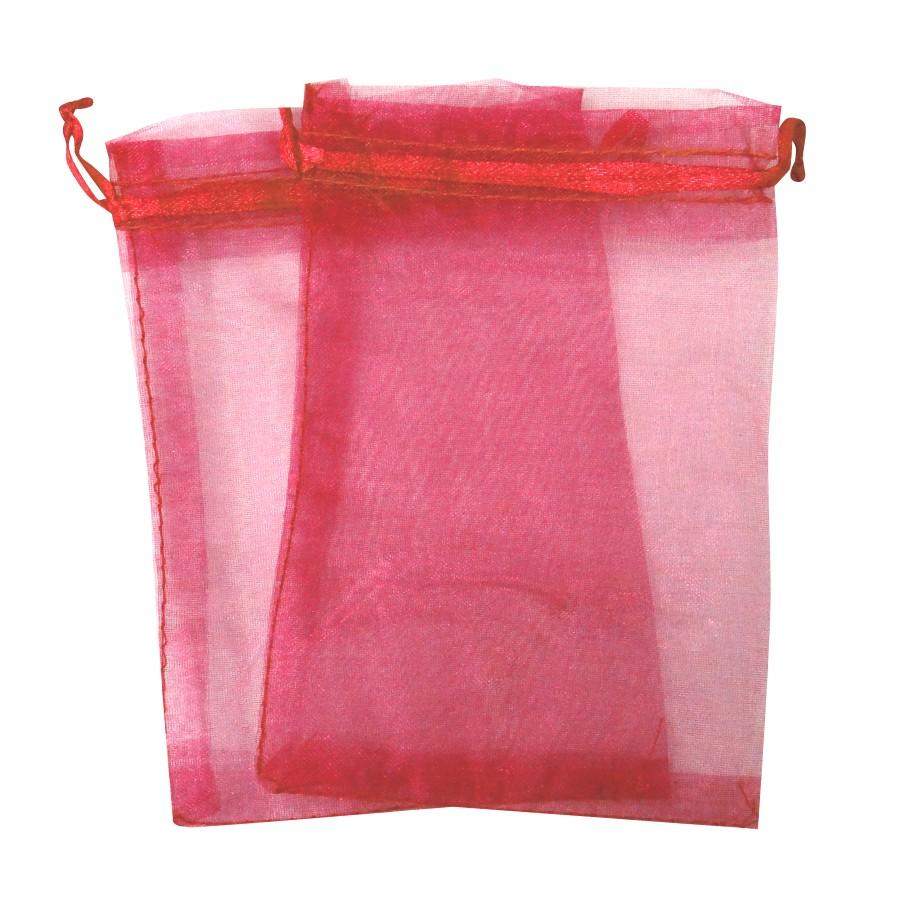 Sacos de Organza Rosa Bebê-SORosa