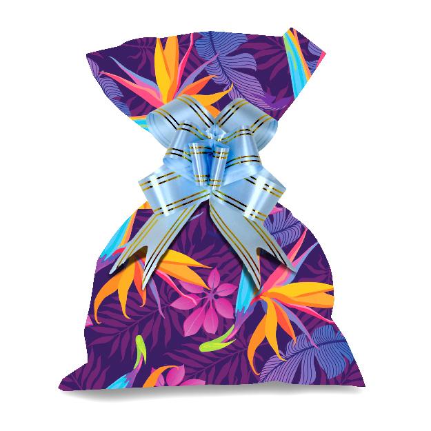 Flor tropical Metalizado-366