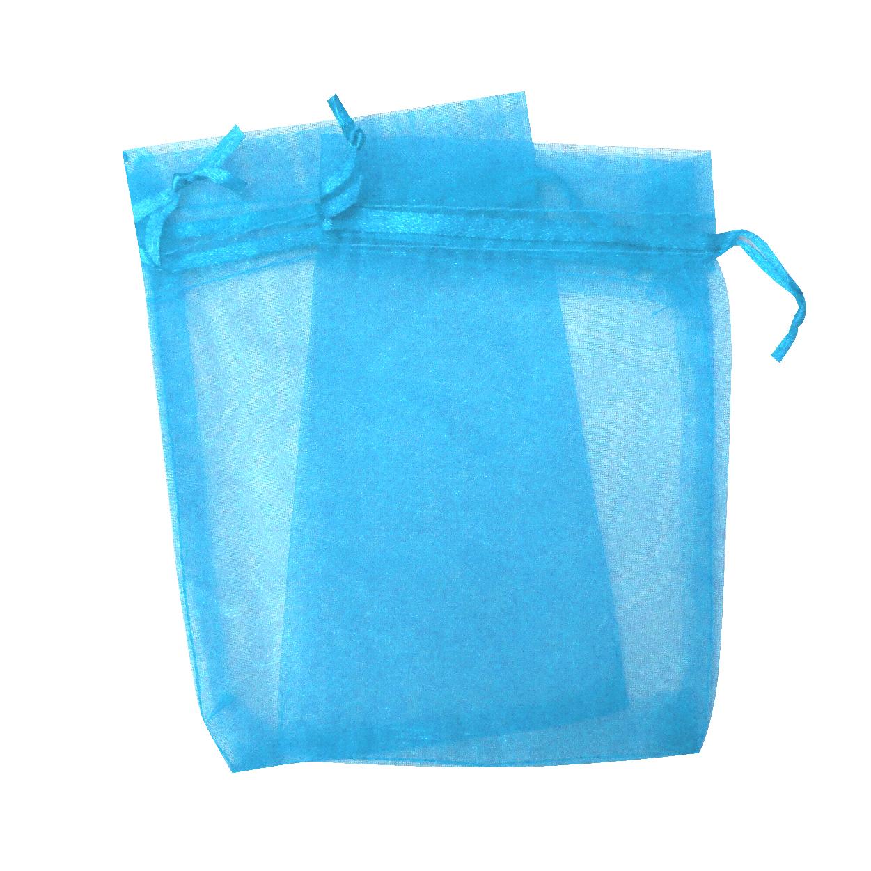 Saco de organza Azul-SO Azul